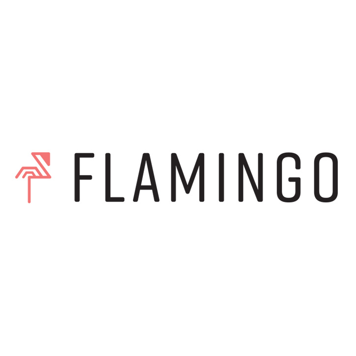 Flamingo Microscope Product Logo Design for Morgridge Research Institute