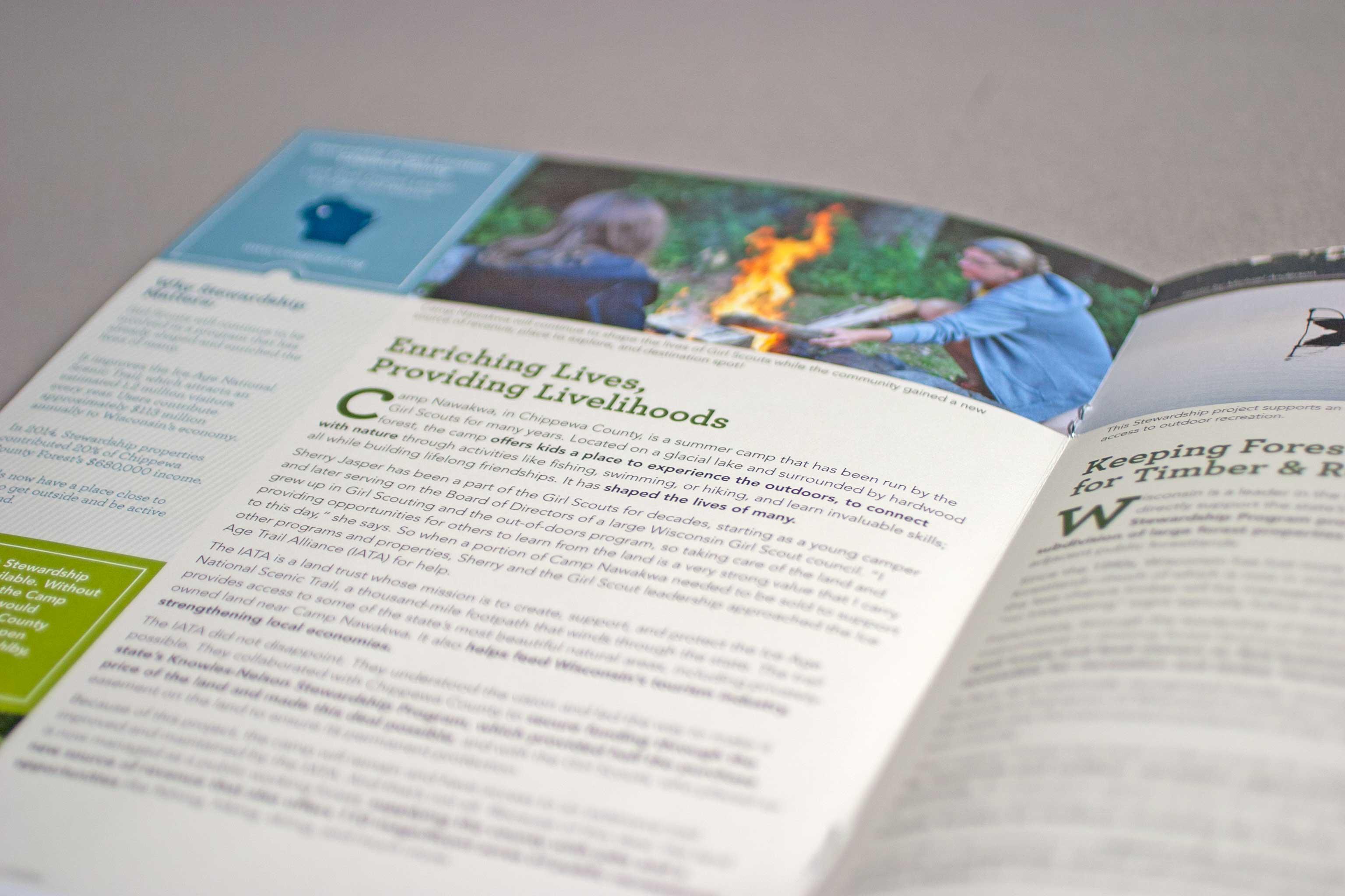 Non-profit newsletter print design