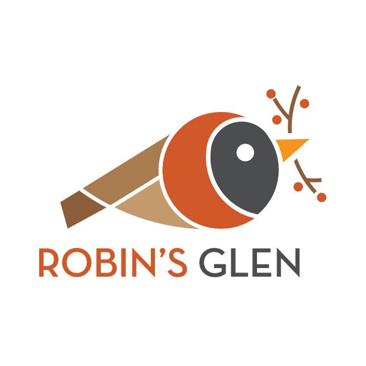 Robin's Glen residential development logo design