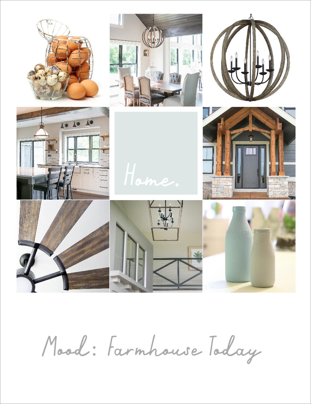 Modern farmhouse style mood board